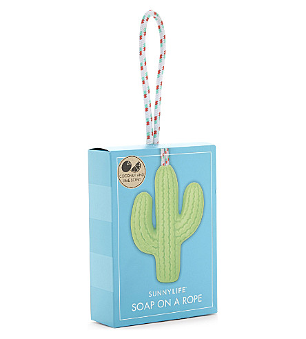 SUNNYLIFE Cactus soap on a rope (Green