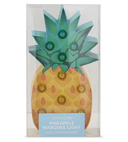 SUNNYLIFE Pineapple marquee light (Multi