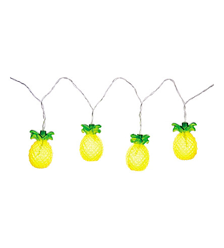 SUNNYLIFE Pineapple string lights (Yellow