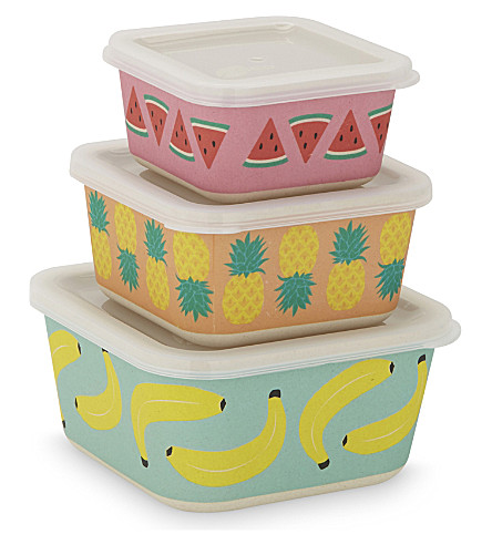 SUNNYLIFE Kid Eco fruit salad nesting box set (Multi