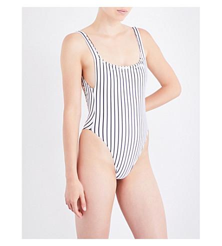 SAME SWIM The Goddess swimsuit (Stripe++blanc/noir