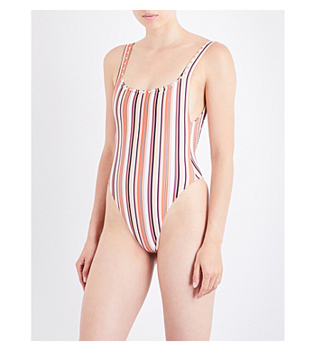 SAME SWIM The Goddess swimsuit (Stripe+multi