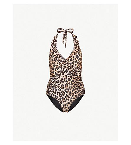 GANNI Avalon swimsuit (Leopard