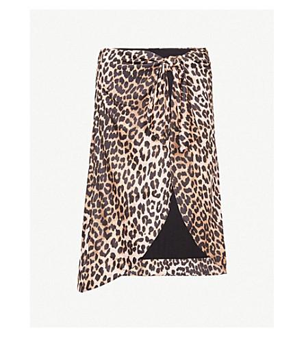 GANNI Avalon stretch-jersey skirt (Leopard