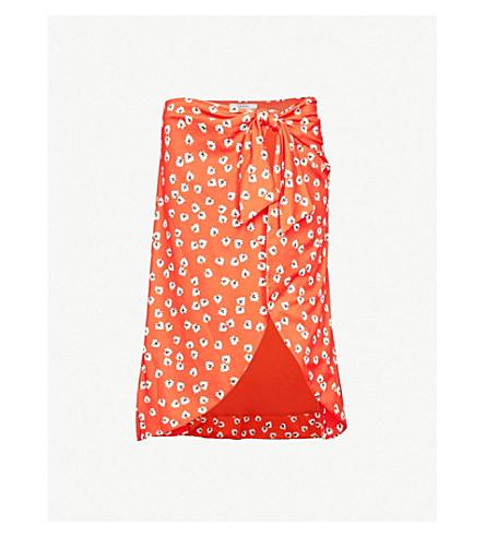 GANNI Columbine stretch-jersey skirt (Big+apple+red
