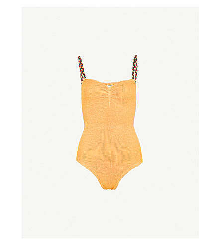 HUNZA G Trina strappy swimsuit (Spice