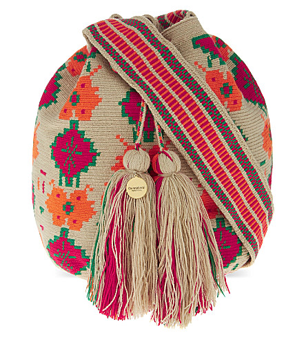 GUANABANA Wayuu crochet shoulder bag (Multi