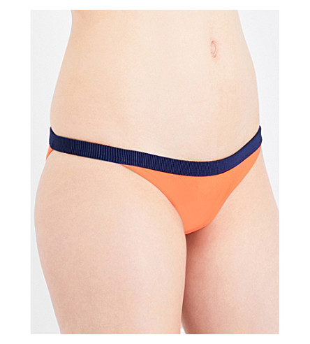 RYE Twinx low-rise bikini bottoms (Satsuma