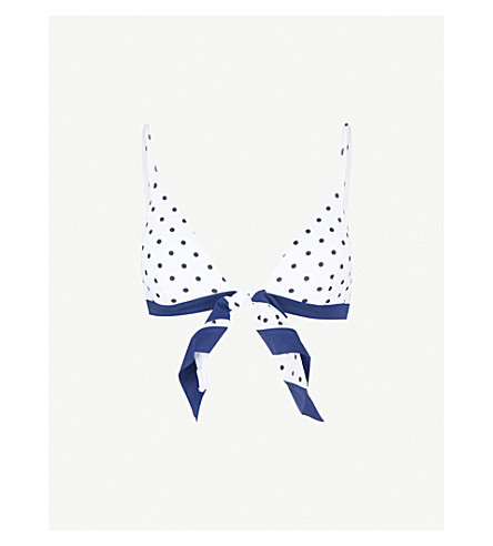 RYE Swoosh bikini top (Freckles