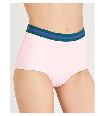 RYE Frosti high-rise bikini bottoms (Musk