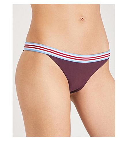 RYE Rumble bikini bottoms (Burgundy
