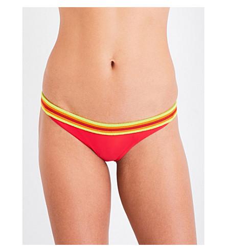 RYE Hoola bikini bottoms (Strawberry