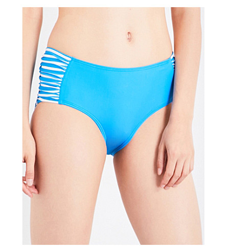 PERFECT MOMENT Logo crewneck bikini (Cobalt