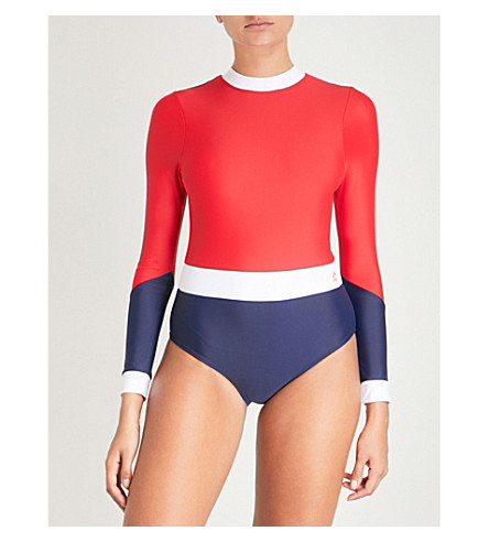 PERFECT MOMENT湿春泳装 (红/雪 + 白/海军