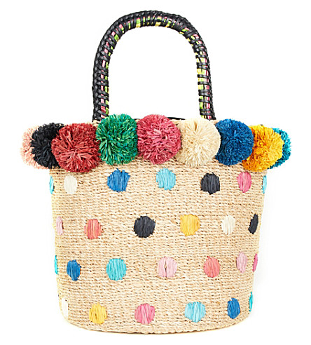 ARANAZ Bon Bon Fiesta woven bucket bag (Multi
