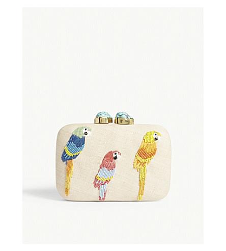 ARANAZ Woven parrot box clutch (Multi
