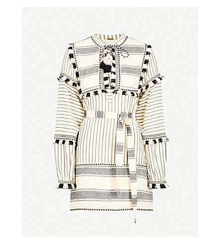 DODO BAR OR Emanuelle tassel-trim cotton mini dress (Black