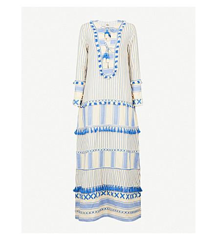 DODO BAR OR Samuelle tassel-trim cotton maxi dress (Blue