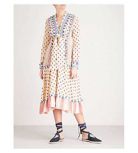 DODO BAR OR Padma tassel-trim cotton dress (Colorful