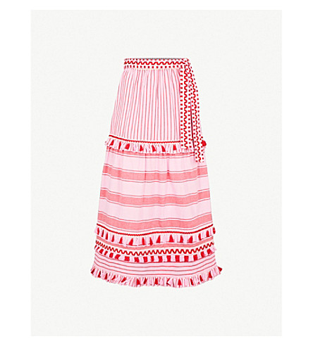 DODO BAR OR Gael tassel-trim cotton skirt (Pink