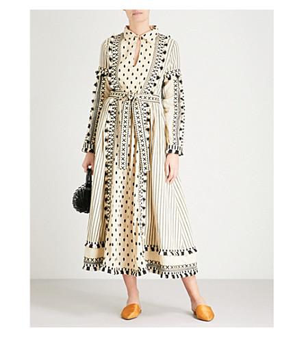 DODO BAR OR Azzez tassel-trim cotton dress (Black