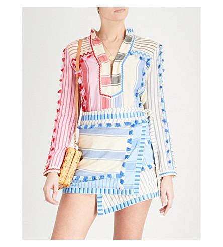 DODO BAR OR Rika tassel-trim cotton shirt (Colorful