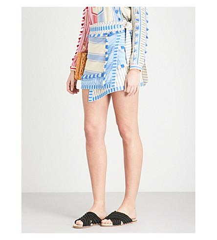 DODO BAR OR Hoze tassel-trim cotton mini skirt (Blue+and+light+blue
