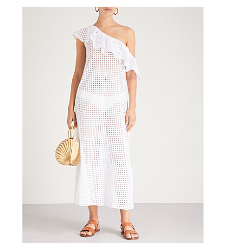 PAPER LONDON Chichi broderie anglaise cotton dress (White