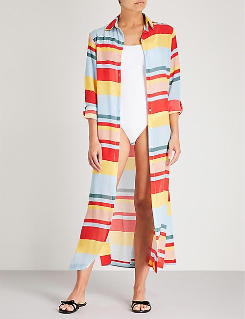 Seda A Rayas Shirtdress Asceno Precio increíble precio barato CR3SS