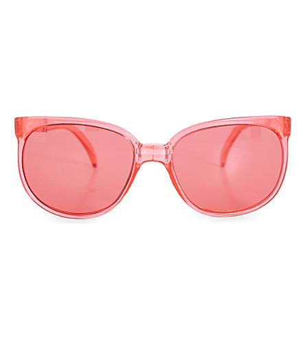 SUNPOCKET Sport D-frame sunglasses (Crystal+red