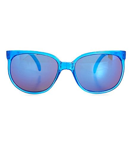 SUNPOCKET Sport D-frame sunglasses (Crystal+sapphire