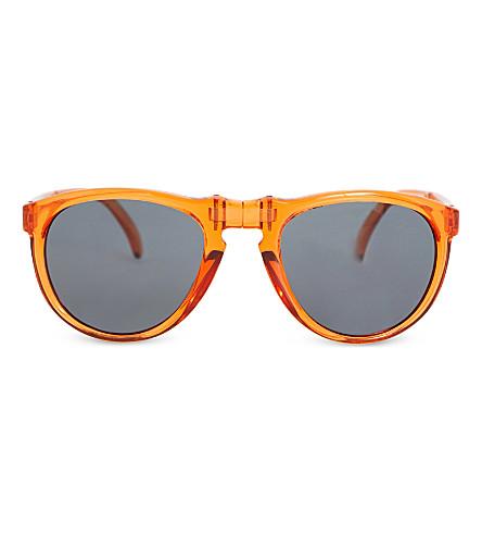 SUNPOCKET Sunpocket II aviator sunglasses (Crystal+cedar
