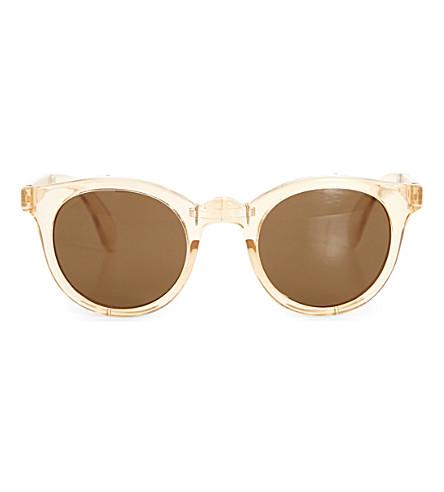 SUNPOCKET Samoa round-frame sunglasses (Crystal+taupe