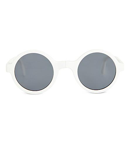 SUNPOCKET Ischia round-frame sunglasses (White