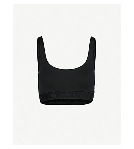 LES GIRLS LES BOYS Track cropped bikini top (Black