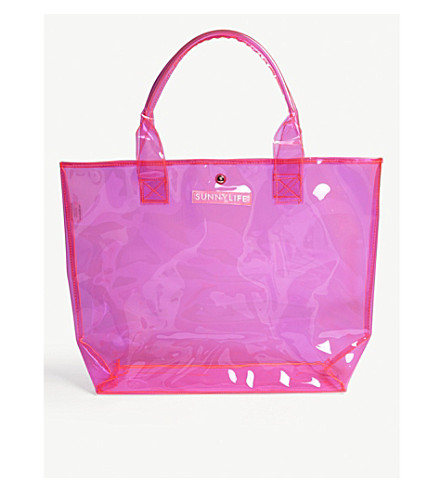 SUNNYLIFE Market neon beach bag Pink Free Shipping Pay With Visa Low Shipping Fee Cheap Online Particular Free Shipping With Paypal Free Shipping Order nFfqq2tR7