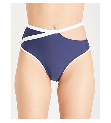 ALEXANDRA MIRO Tatiana bikini bottoms (Navy+white