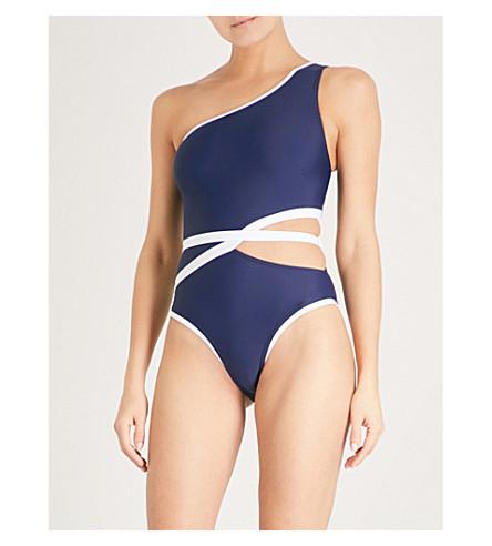 ALEXANDRA MIRO Tatiana swimsuit (Navy+white