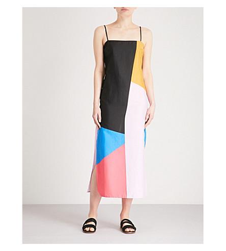 MARA HOFFMAN Sena cotton maxi dress (Blue+multi
