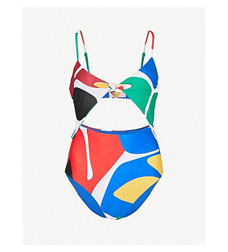 MARA HOFFMAN Kia cutout swimsuit (Crm+multi
