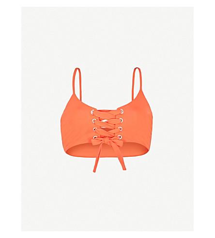 MARA HOFFMAN Scarlett lace-up bikini top (Vitamina