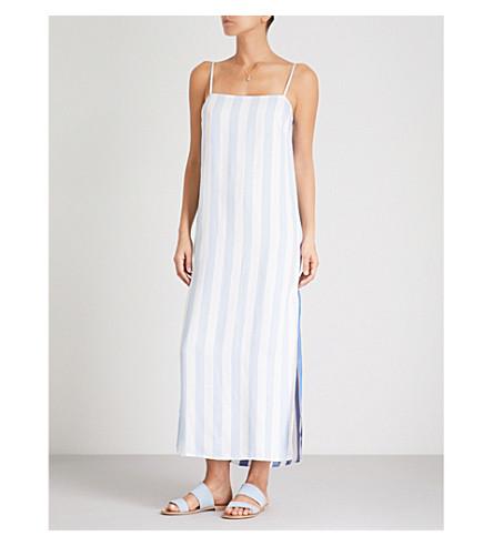 MARA HOFFMAN Sena striped woven maxi dress (Denm+multi