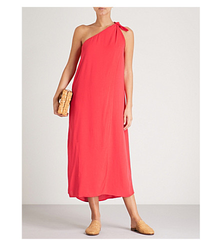 MARA HOFFMAN Camilla one-shoulder woven dress (Red