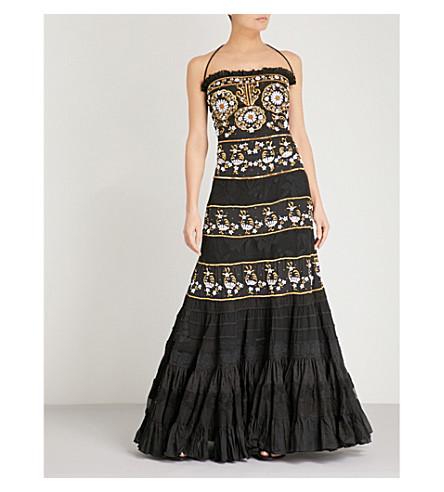 LAS NOCHES IBIZA Fabulous embellished cotton dress (Black+gold