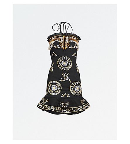 LAS NOCHES IBIZA Macao cotton dress (Black+gold