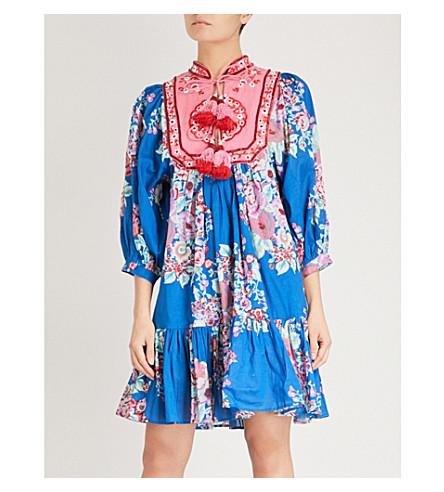 LAS NOCHES IBIZA Mekong cotton dress (Blue+strong