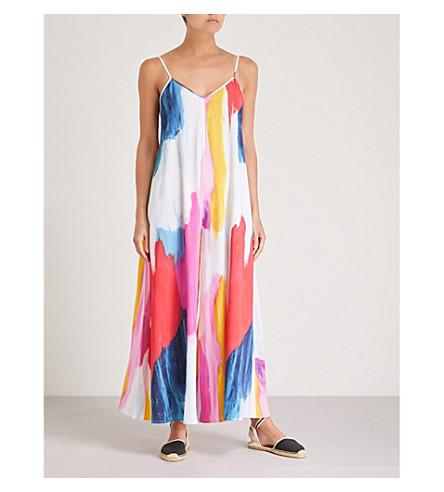 MARA HOFFMAN Carly crepe maxi dress (Pink multi