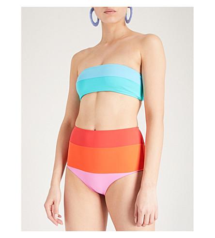 MARA HOFFMAN Abigail bandeau bikini top (Multi