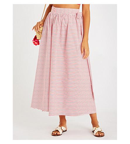 MARA HOFFMAN Katrine cotton-poplin skirt (Cabana stripe