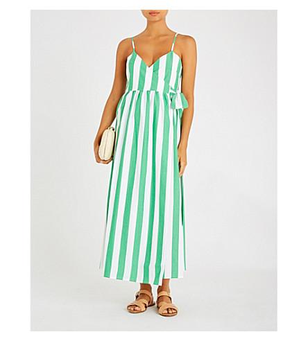 MARA HOFFMAN Alma cotton-poplin wrap dress (Bungalow stripe